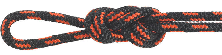 Nylon Accessory Cord Black/Orange