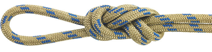 Nylon Accessory Cord Gold/Blue