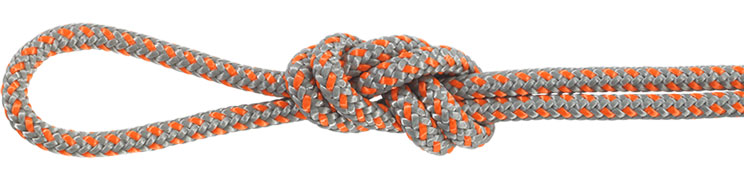 Polyester Accessory Cord Gray/Orange