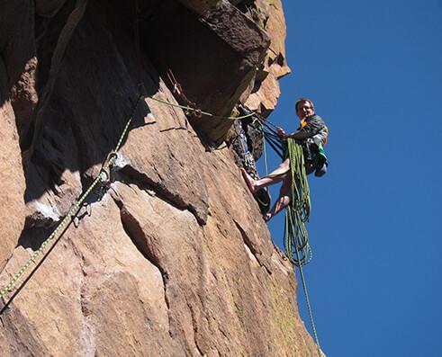 Climbing picture of MAXIM athlete Chris Archer