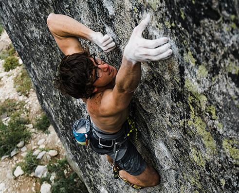 Climbing picture of MAXIM athlete Jordan Cannon