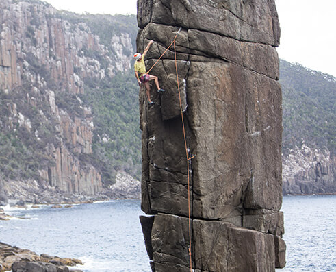 Climbing picture of MAXIM athlete Josh Larson