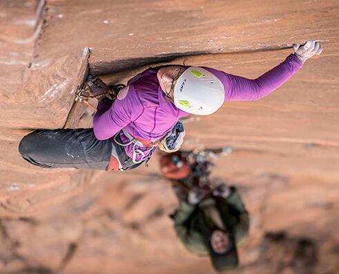 Climbing picture of MAXIM athlete Madaleine Sorkin