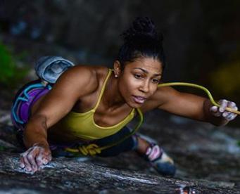 Portrait of MAXIM climber Maiza Lima