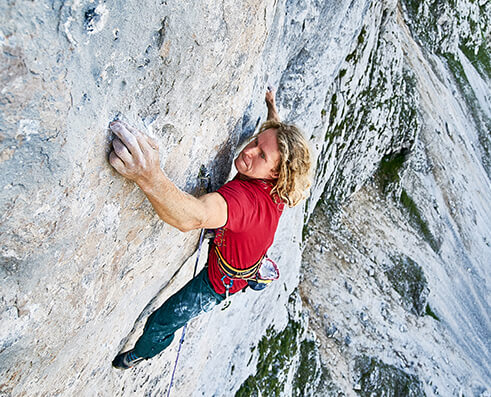 Climbing picture of MAXIM athlete Mich Kemeter