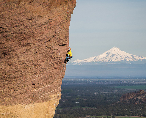 Climbing picture of MAXIM athlete Mike Doyle