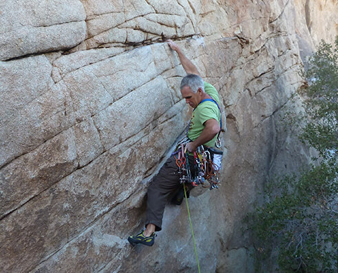 Climbing picture of MAXIM athlete Randy Leavitt