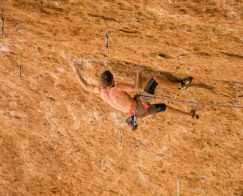Climbing picture of MAXIM athlete Todd Perkins