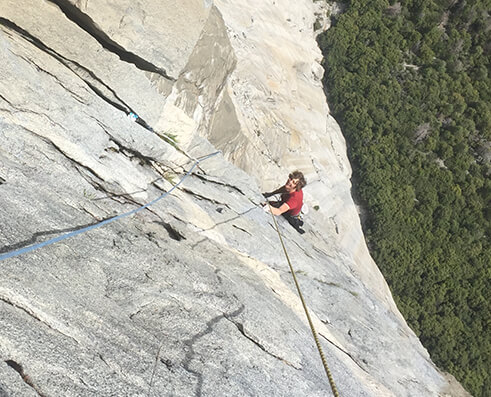 Climbing picture of MAXIM athlete Will Stanhope