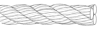 3-strand rope construction