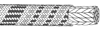 Bi-Pattern rope construction