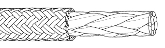 Double braid rope construction