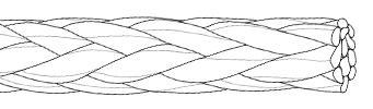 Single braid rope construction